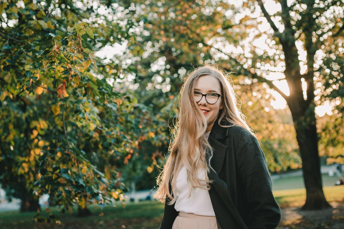 Míša v podzimním kabátku